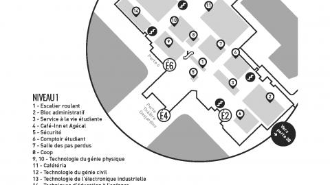 Plan intérieur du Cégep