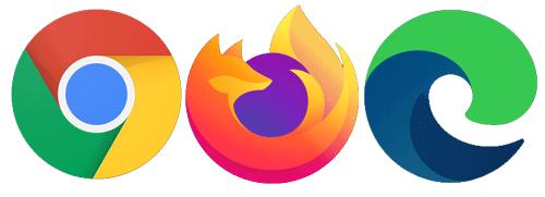 Navigateurs Chrome Firefox Edge