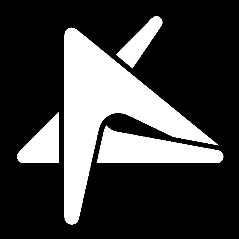 Boomerang blanc logo du Cégep